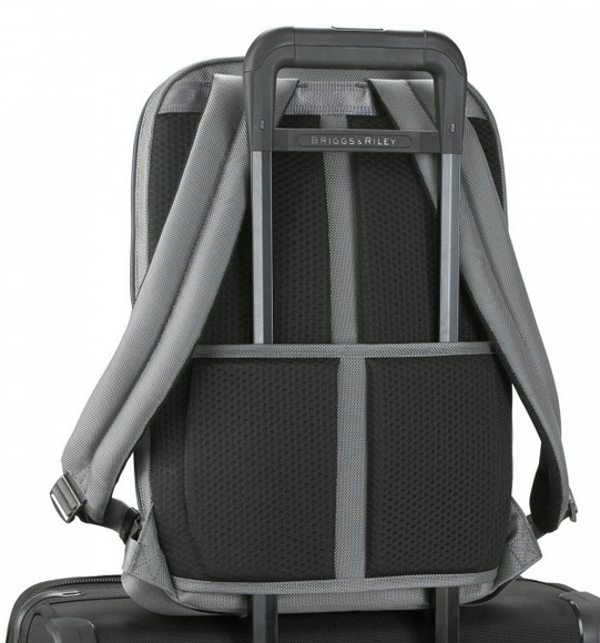 Briggs & Riley @Work Medium Slim Backpack on Suitcase