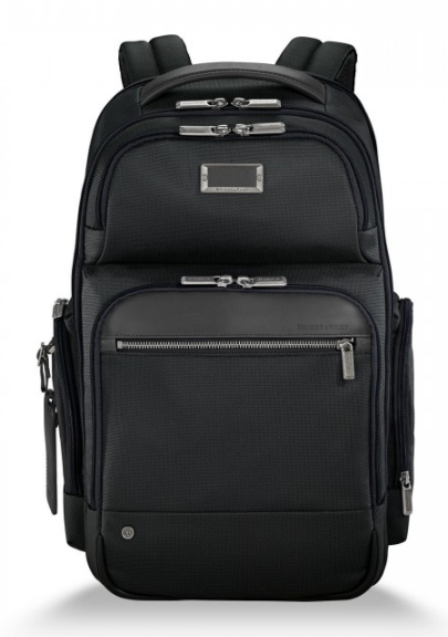 Briggs & Riley @Work Medium Cargo Backpack Black Front