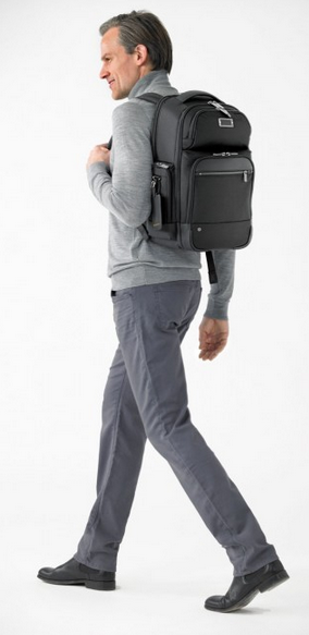 Wearing Black Briggs & Riley @Work Medium Cargo Backpack