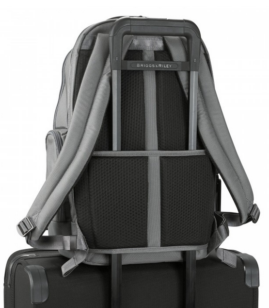 Briggs & Riley @Work Medium Cargo Backpack On Suitcase