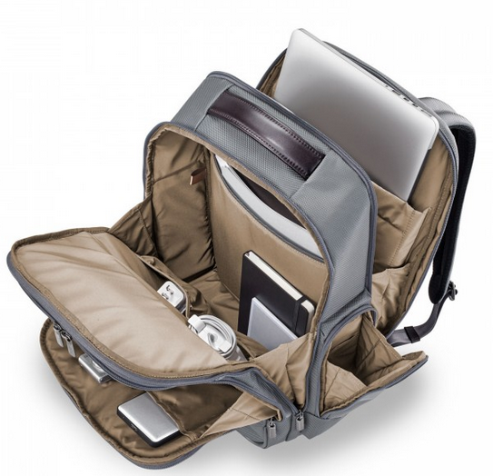 Briggs & Riley @Work Large Cargo Backpack Grey Interior