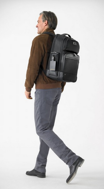 Briggs & Riley @Work Large Cargo Backpack Black Wearing