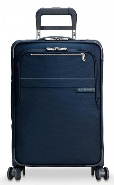 "Briggs & Riley Baseline Domestic 22"" Carry-On Expandable Spinner Front Navy"