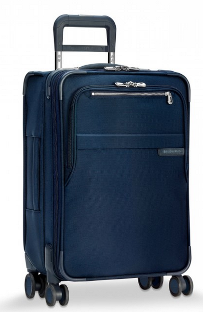 "Briggs & Riley Baseline Domestic 22"" Carry-On Expandable Spinner Navy"