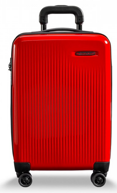 Briggs and Riley Sympatico Carry-On CX Spinner Fire Red