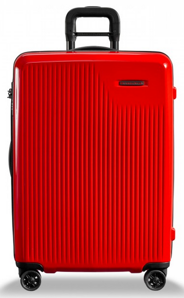 Briggs & Riley Sympatico Medium CX Spinner Hardside Luggage Fire Red