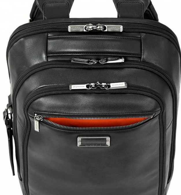 Briggs & Riley @Work Leather Medium Backpack Accessory Pocket