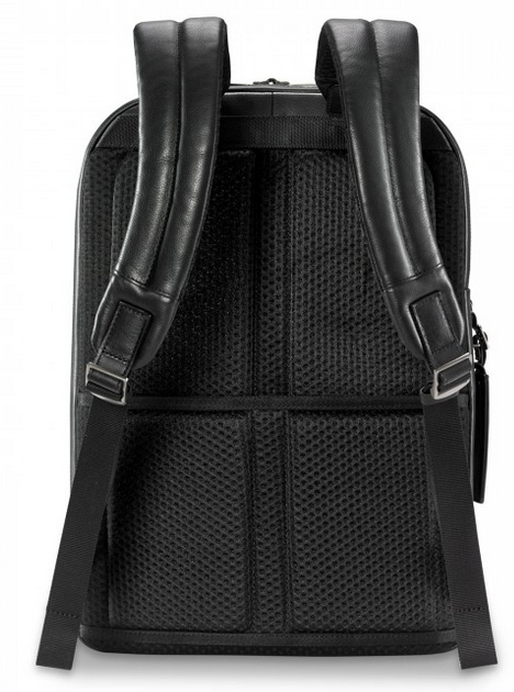 Briggs & Riley @Work Leather Medium Backpack Straps