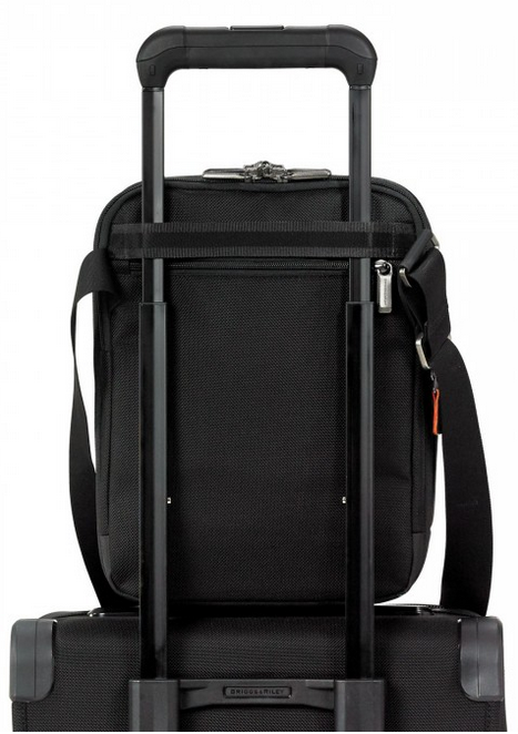 Briggs & Riley @Work Small Expandable Cross Body On Suitcase
