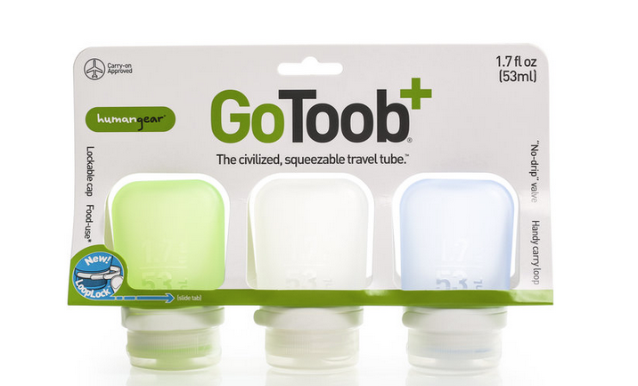 GoToob+ 3 Pack 1.7 oz Travel Tube
