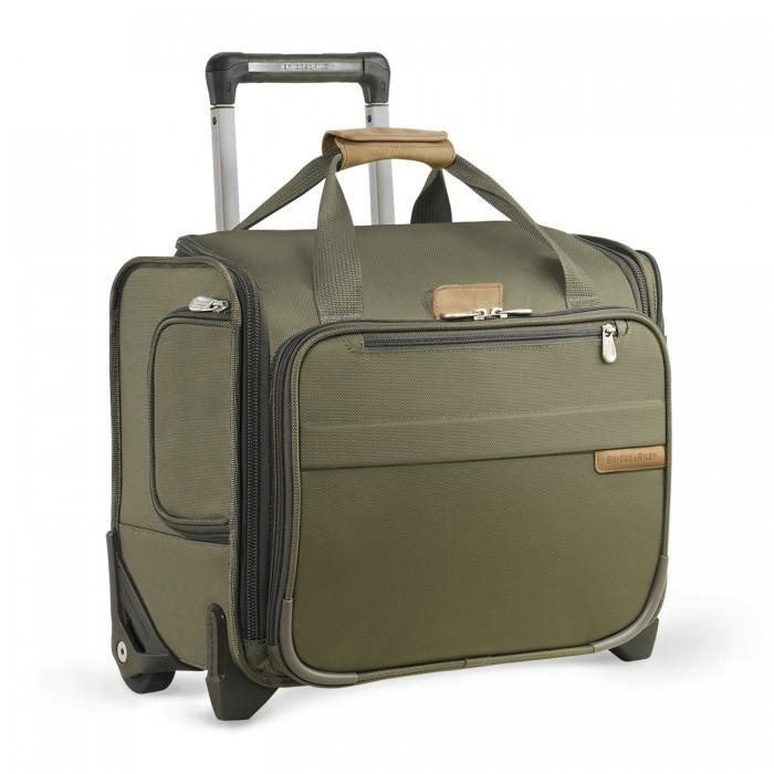 Briggs & Riley Baseline Rolling Cabin Bag Olive Green Carry-On
