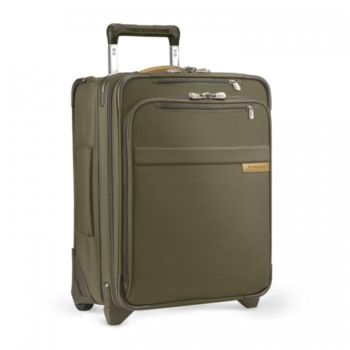 "Briggs & Riley Baseline Commuter 18"" Expandable Carry On Olive Green"