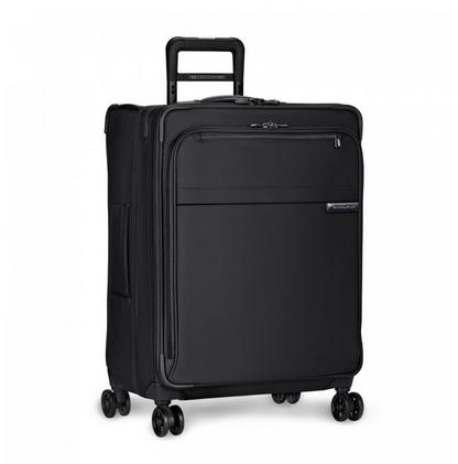 "Briggs and Riley Baseline Medium 25"" Expandable Spinner Black"