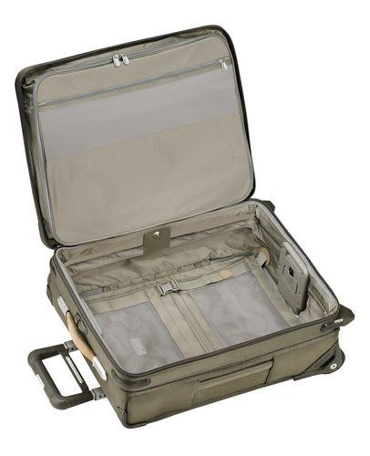Briggs & Riley Baseline International Carry-On Wide Body Upright Olive Green Open