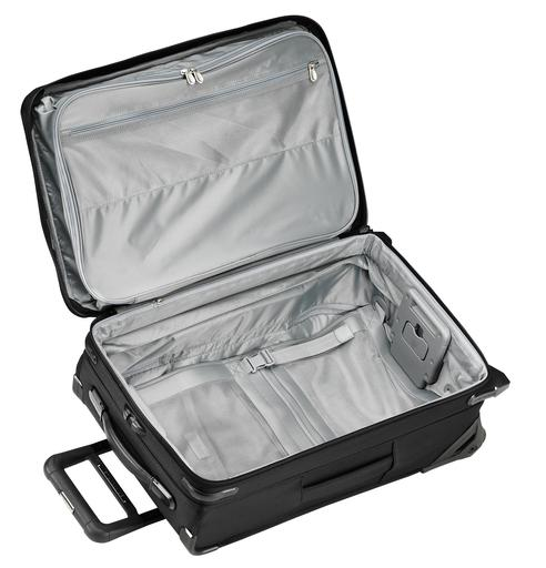 "Briggs & Riley Baseline 22"" Domestic Carry-On Expandable Upright Luggage Open"
