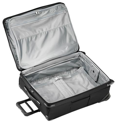 "Briggs & Riley Baseline 25"" Medium Expandable Upright Checked Luggage Black Open"