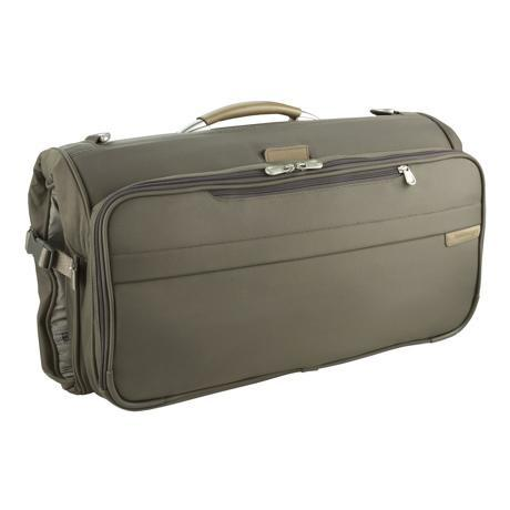 Briggs & Riley Baseline Compact Carry On Garment Bag Tri-Fold Olive Green