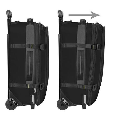 Briggs & Riley BRX Explore Commuter Expandable Upright Carry-On Expansion Open