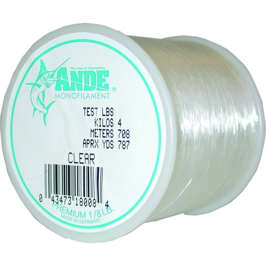 Ande Premium Monofilament 1-8 Lb. Spool; This is part of the Monofilament collection offered from Fishin' My Best Life - fishinmybestlife.com