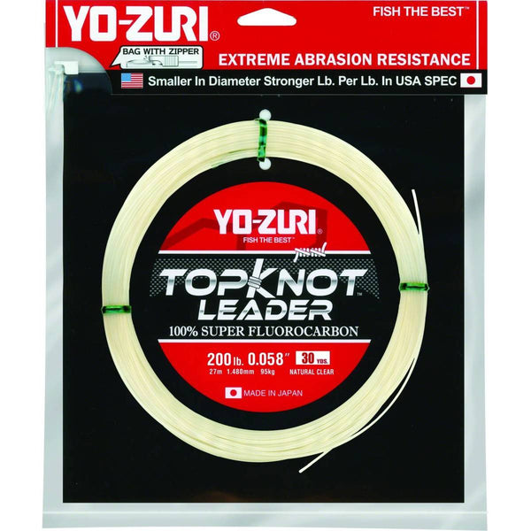Yo-Zuri Topkot Fluorocarbon Leader; This is part of the Fluorocarbon collection offered from Fishin' My Best Life - fishinmybestlife.com
