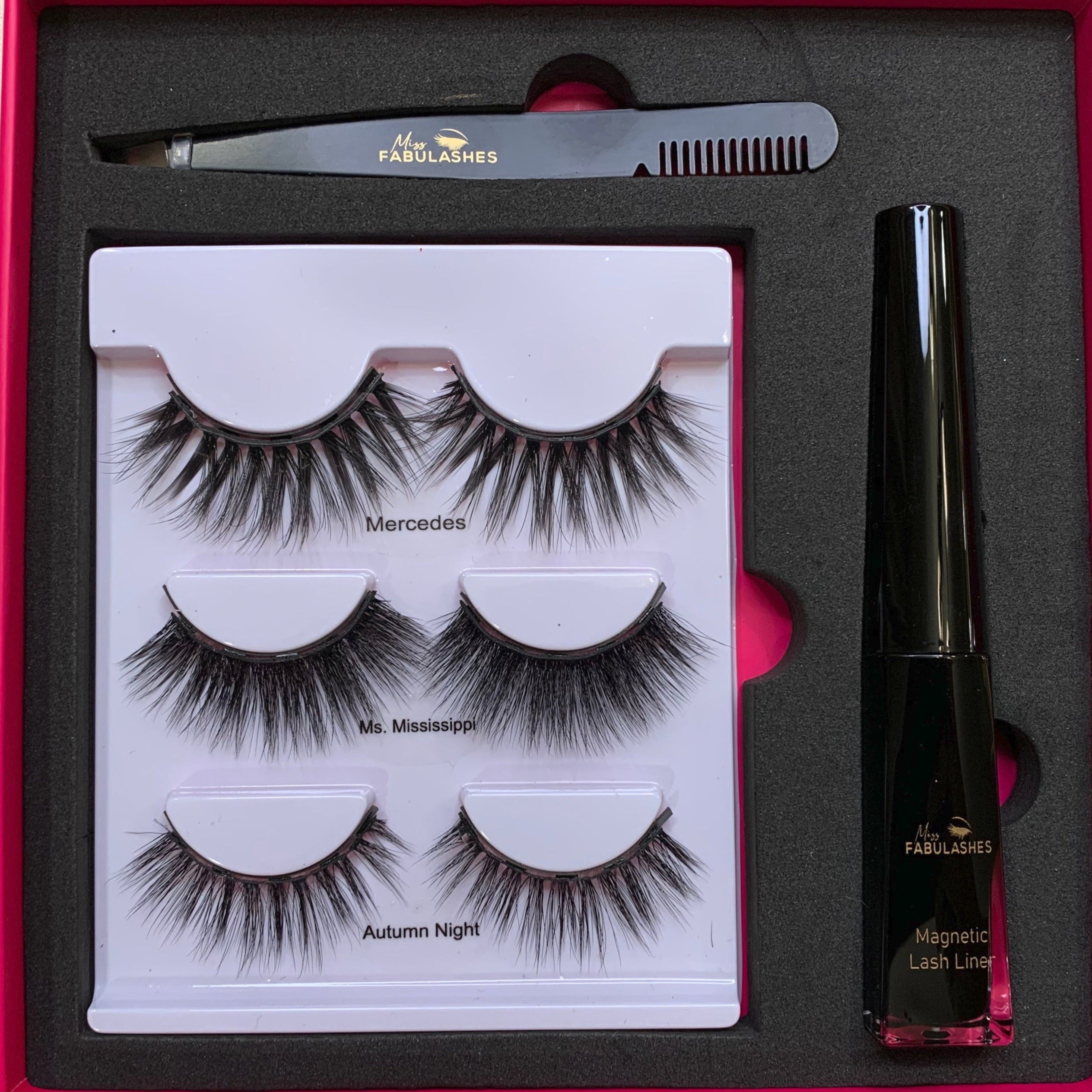 Best Magnetic Eyelashes with Tweezer & Liner-Miss Fabulashes