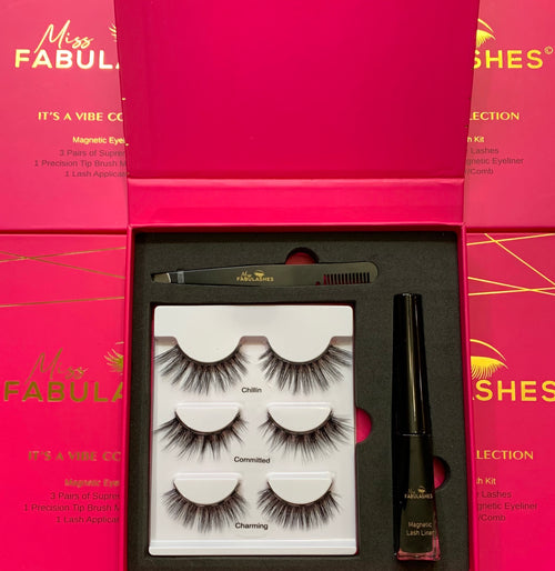Premium Quality Magnetic Eyelash Kit - Miss Fabulashes