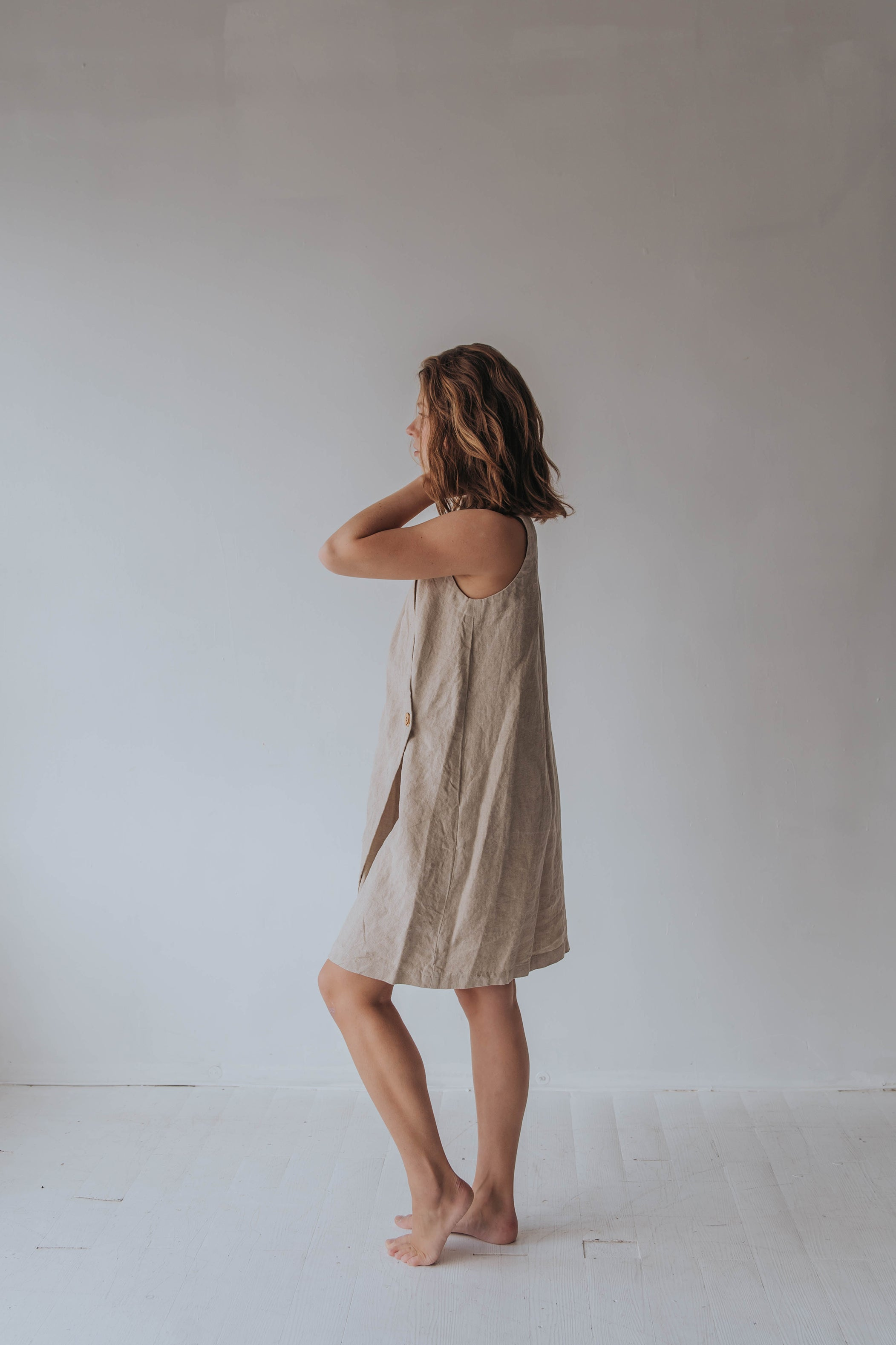 Oatmeal Wrap Dress