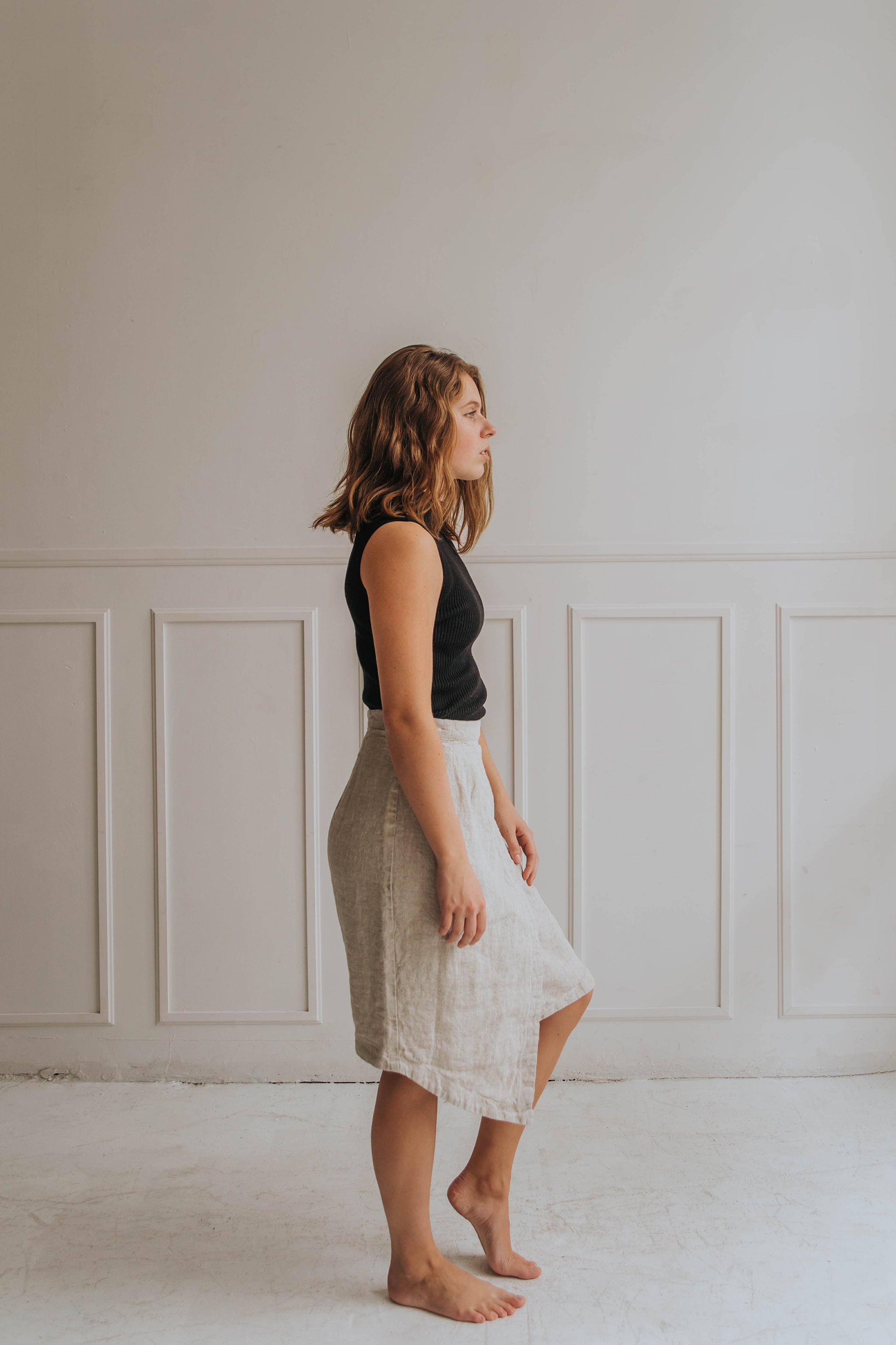 Oatmeal Wrap Skirt