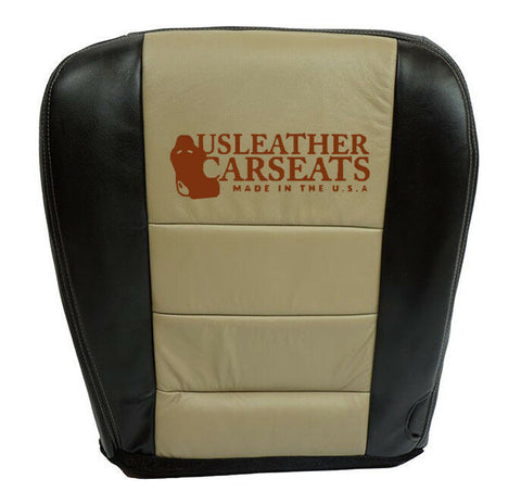 2005 Ford Expedition Eddie Bauer Driver Bottom Leather Seat Cover 2-Tone Tan