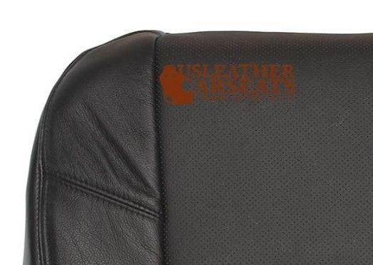 2007 Cadillac Escalade EXT ESV Driver Bottom vinyl PERF Leather Seat Cover Black
