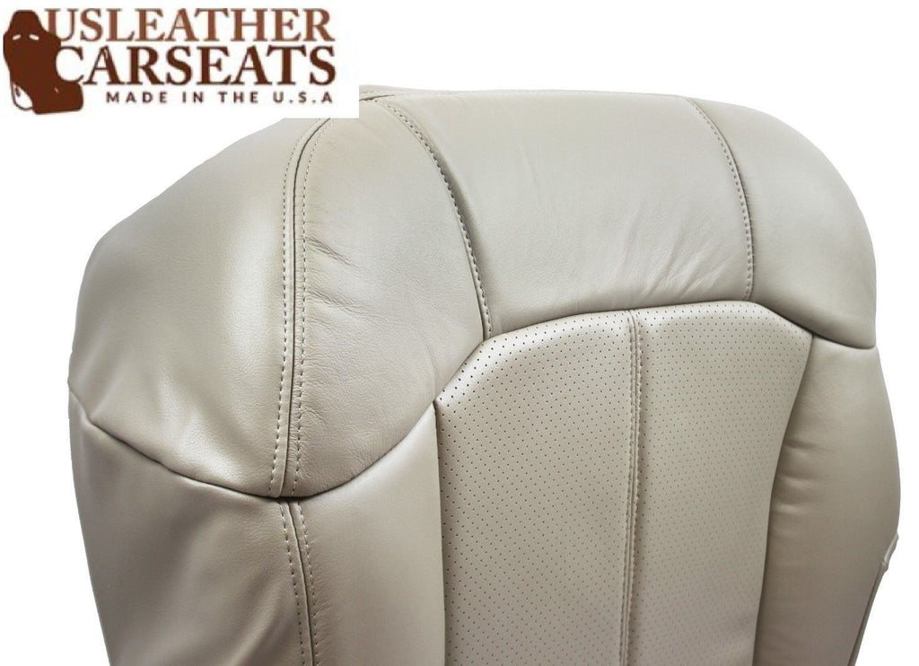 99-2002 Cadillac Escalade Driver Side Bottom PERFORATED Leather Seat Cover Shale