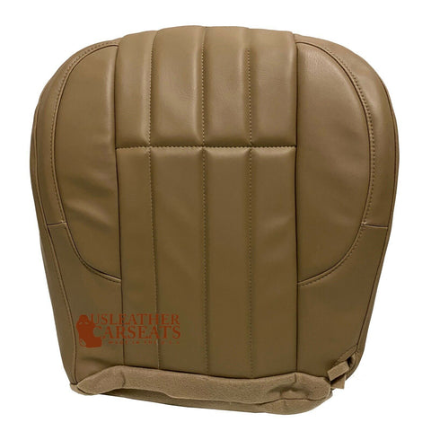 2002-2007 Jeep Grand Cherokee Passenger Bottom Synthetic Leather Seat Cover Tan
