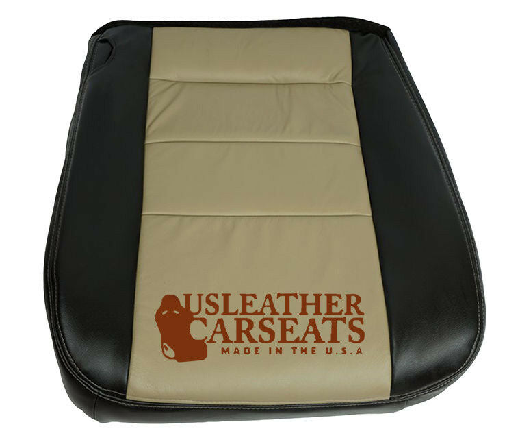 2005 Ford Excursion EDDIE BAUER Leather Passenger Bottom Seat Cover Black//Tan