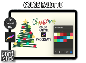 Procreate Add-On: Color Palette - Christmas - Print Stick