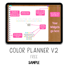 Load image into Gallery viewer, 𝘍𝘙𝘌𝘌 𝗗𝗶𝗴𝗶𝘁𝗮𝗹 𝗣𝗹𝗮𝗻𝗻𝗲𝗿 - Color Planner V2 - Print Stick