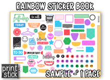 Load image into Gallery viewer, Digital Planner Sticker Book - Rainbow - Print Stick