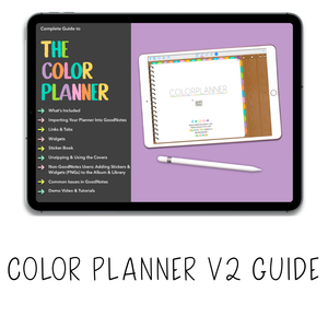 𝘍𝘙𝘌𝘌 𝗗𝗶𝗴𝗶𝘁𝗮𝗹 𝗣𝗹𝗮𝗻𝗻𝗲𝗿 - Color Planner V2 - Print Stick