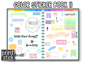 Color Sticker Book II - Digital Planner Sticker Book - Print Stick