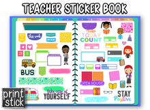 Load image into Gallery viewer, Teacher Sticker Book - Print Stick