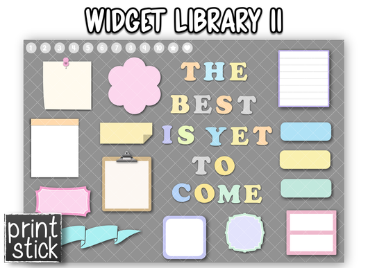 Widget Library II - Print Stick