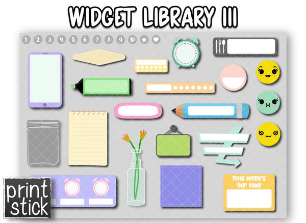 Widget Library III - Print Stick