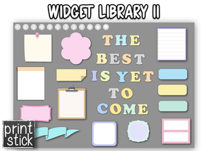 Bo - Widget Library #1 - Choose one - Print Stick