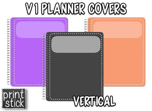 Covers for Planners - V1 - Print Stick