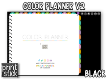 Load image into Gallery viewer, Color Planner V2 - Digital Planner - Print Stick