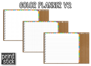 Color Planner V2 - Digital Planner - Print Stick