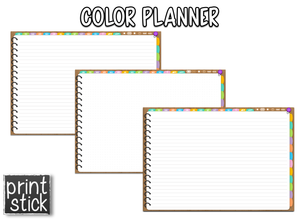 Color Planner - Digital Planner - Print Stick