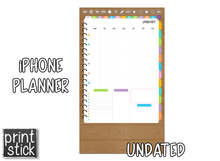 Load image into Gallery viewer, iPhone Planner - Digital Planner for Smartphones - Print Stick
