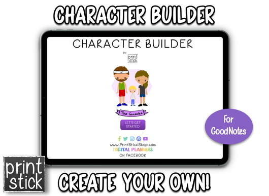 Character Builder - Print Stick