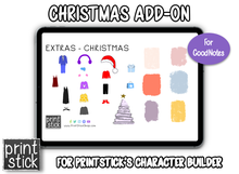 Load image into Gallery viewer, Character Builder Add-On: Christmas - Print Stick