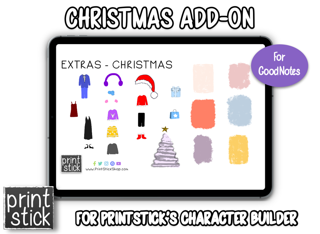 Character Builder Add-On: Christmas - Print Stick